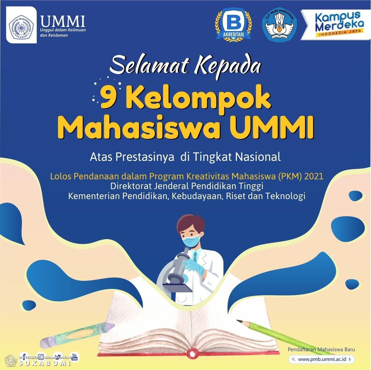 9 Kelompok Mahasiswa UMMI Lolos PKM Tingkat Nasional