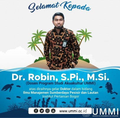 Robin, Aquaculture Lecturer Earned Doctorate Degree