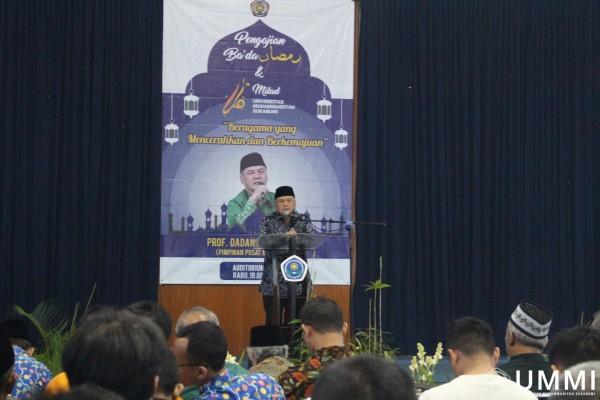Prof. Dadang Kahmad Invited As A Speaker in Bada Ramadhan Seminar and 16th UMMI Anniversary