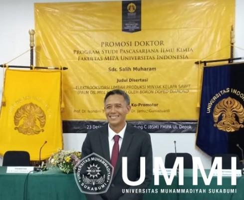 Salih, Dosen Program Studi Kimia UMMI Raih gelar Doktor