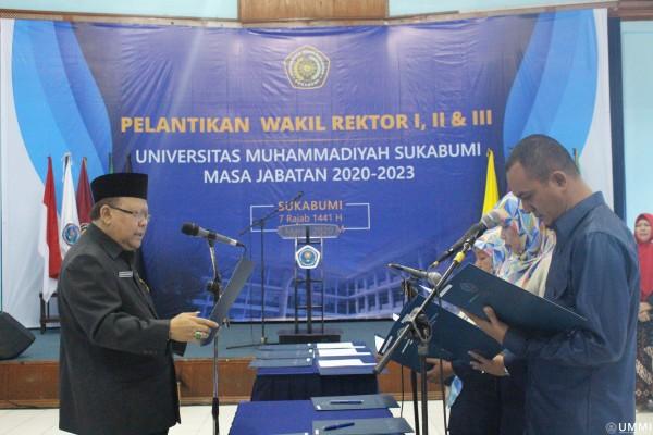 Tiga Wakil Rektor Baru UMMI Resmi Dilantik