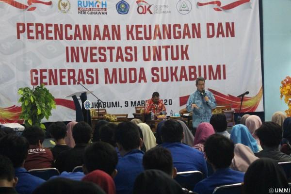 Seminar Perencanaan Keuangan dan Investasi : FIAH dan FE UMMI Hadirkan OJK dan Anggota DPR RI